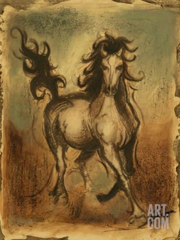 Wild Horses I Stretched Canvas Print