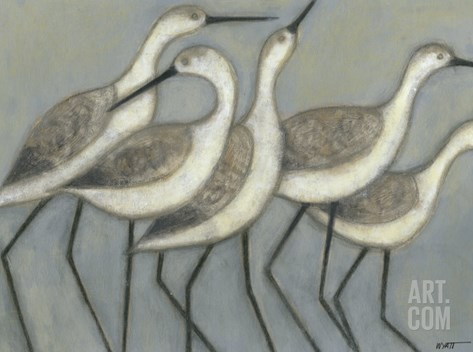 Shore Birds II Stretched Canvas Print