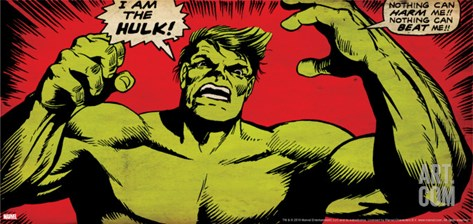 Marvel Comics Retro: The Incredible Hulk Comic Panel (aged) Stretched Canvas Print