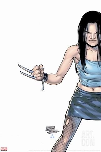 X-23 No.1 Cover: X-23 Stretched Canvas Print