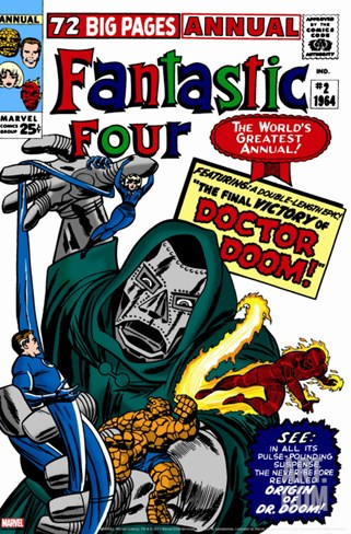 Fantastic Four Annual No.2 Cover: Dr. Doom Stretched Canvas Print