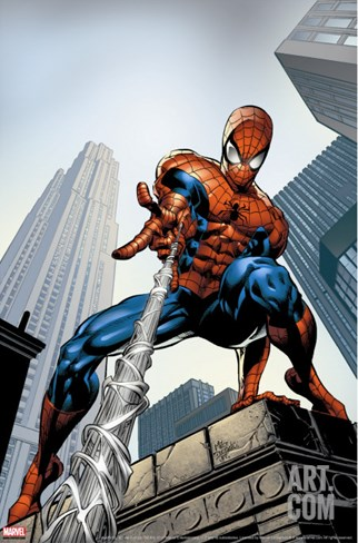 Amazing Spider-Man #520 Cover: Spider-Man Swimming Stretched Canvas Print