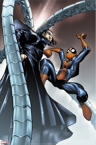Spectacular Spider-Man #10 Cover: Spider-Man and Doctor Octopus Stretched Canvas Print