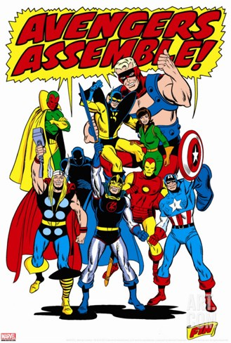 Avengers No.71 Group: Goliath Stretched Canvas Print