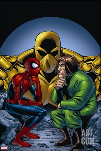 Marvel Adventures Spider-Man No.11 Cover: Spider-Man and Mad Thinker Stretched Canvas Print