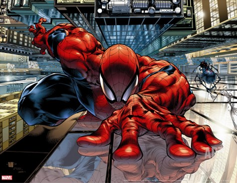 The Sensational Spider-Man #23 Cover: Spider-Man Stretched Canvas Print