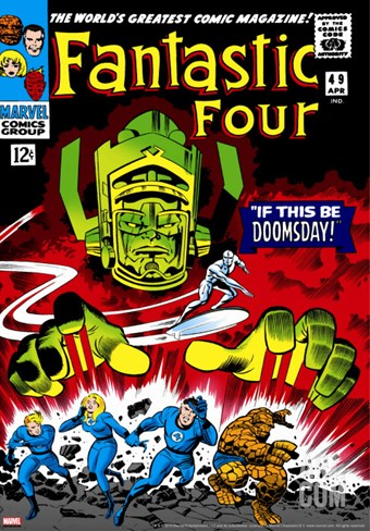 Marvel Comics Retro: Fantastic Four Family Comic Book Cover No.49, If This Be Doomsday! Stretched Canvas Print