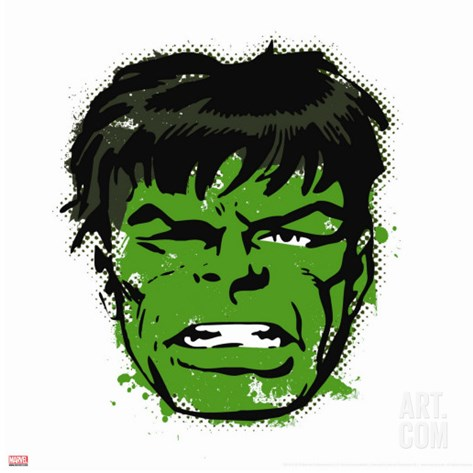 Marvel Comics Retro: The Incredible Hulk Stretched Canvas Print