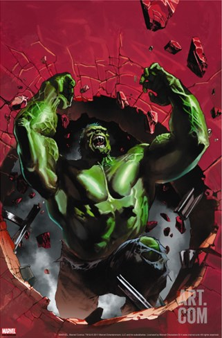 Ultimate Origins #4 Cover: Hulk Stretched Canvas Print