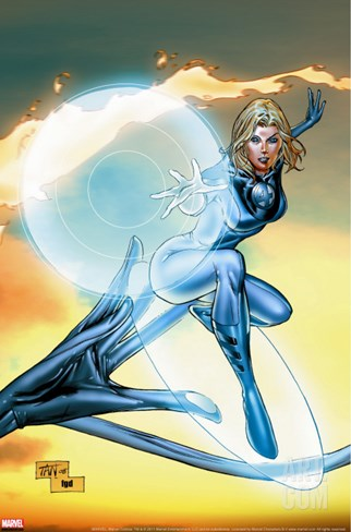 Ultimate Fantastic Four No.55 Cover: Invisible Woman Stretched Canvas Print
