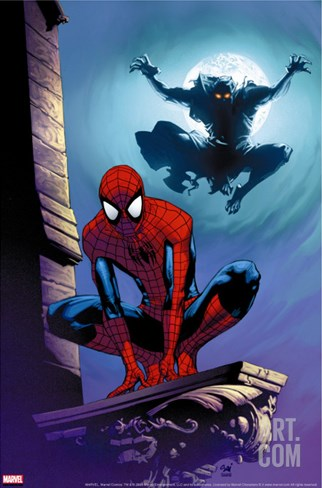 Ultimate Spider-Man #112 Cover: Spider-Man and Green Goblin Stretched Canvas Print