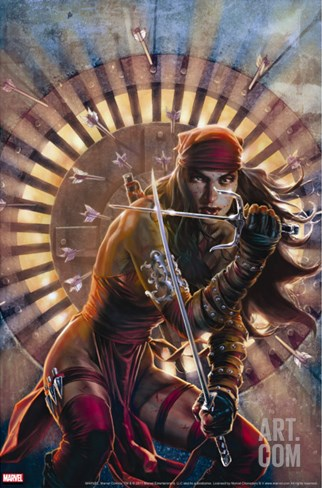 Dark Reign: Elektra No.2 Cover: Elektra Stretched Canvas Print