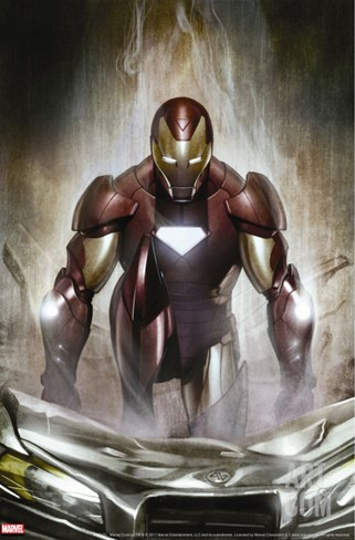 Iron Man: Director Of S.H.I.E.L.D. No.30 Cover: Iron Man Stretched Canvas Print