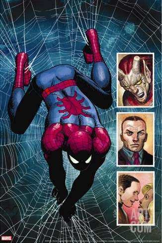 The Amazing Spider-Man No.584 Cover: Spider-Man and Menace Stretched Canvas Print