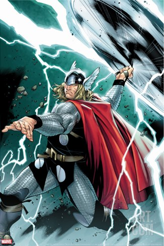 Thor No.1 Cover: Thor Stretched Canvas Print