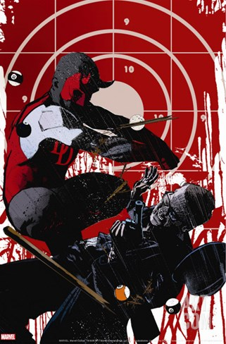 Daredevil Noir No.3 Cover: Daredevil Stretched Canvas Print