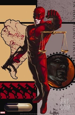 Daredevil No.109 Cover: Daredevil Stretched Canvas Print