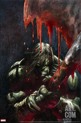Skaar: Son Of Hulk Presents - Savage World Of Sakaar No.1 Cover: Skaar Stretched Canvas Print
