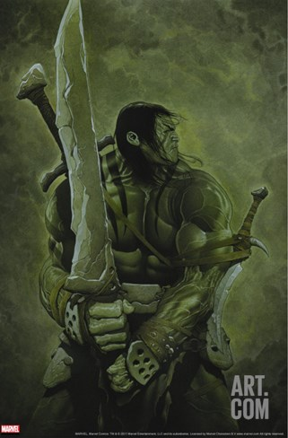 Skaar: Son of Hulk No.11 Cover: Skaar Stretched Canvas Print