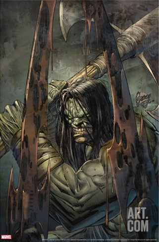 Skaar: Son Of Hulk No.4 Cover: Skaar Stretched Canvas Print