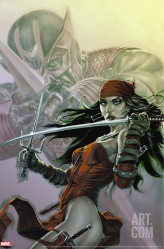 Dark Reign: Elektra No.3 Cover: Elektra Stretched Canvas Print