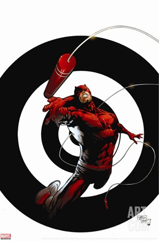Dark Reign: The List - Daredevil No.1 Cover: Daredevil Stretched Canvas Print