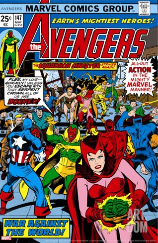 Avengers No.147 Cover: Scarlet Witch Stretched Canvas Print