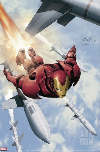 Invincible Iron Man No.3 Cover: Iron Man Stretched Canvas Print