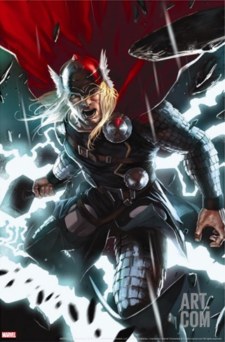 Thor No.8 Cover: Thor Stretched Canvas Print