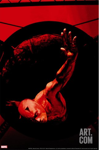 Daredevil No.58 Cover: Daredevil Stretched Canvas Print