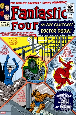 The Fantastic Four No.17 Cover: Mr. Fantastic Stretched Canvas Print