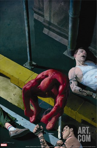 Daredevil No.504 Cover: Daredevil Stretched Canvas Print