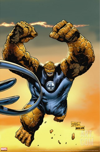 Ultimate Fantastic Four No.57 Cover: Thing Stretched Canvas Print