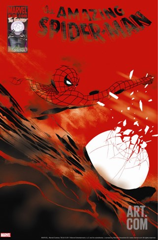 The Amazing Spider-Man No.620 Cover: Spider-Man Stretched Canvas Print