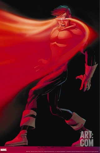 X-Men: First Class #10 Cover: Cyclops Stretched Canvas Print