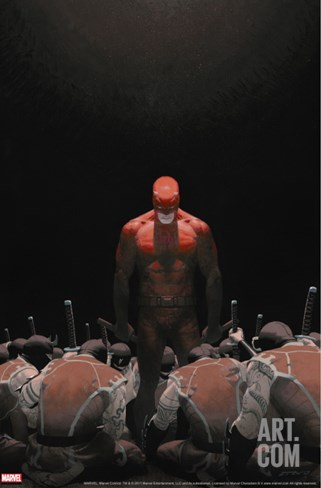 Daredevil No.502 Cover: Daredevil Stretched Canvas Print