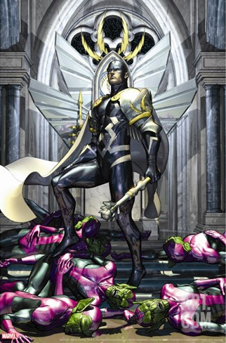 Secret Invasion: War Of Kings No.1 Cover: Black Bolt Stretched Canvas Print