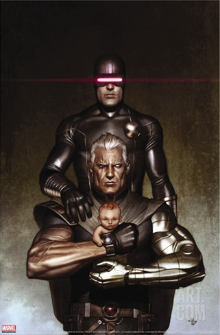 Cable No.6 Cover: Cyclops and Cable Stretched Canvas Print