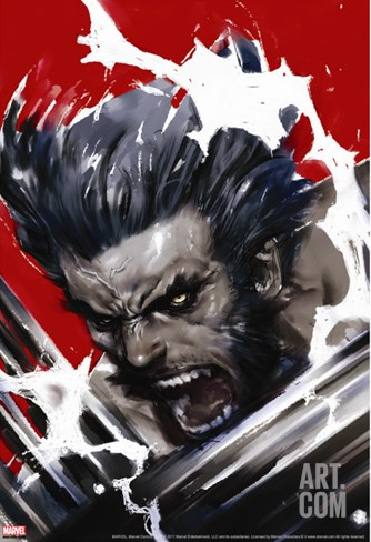 Wolverine: Soultaker No.1 Cover: Wolverine Stretched Canvas Print