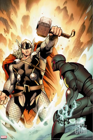 Thor No.3 Cover: Thor Stretched Canvas Print