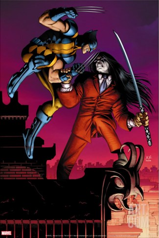 Wolverine No.30 Cover: Wolverine and Gorgon Stretched Canvas Print