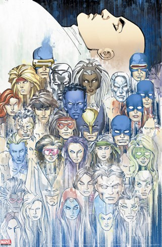 X-Men: Legacy No.208 Group: X-Men Stretched Canvas Print