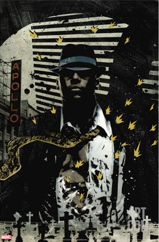 Luke Cage Noir No.1 Cover: Cage and Luke Stretched Canvas Print