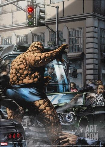 Marvels: Eye Of The Camera No.1 Cover: Thing Stretched Canvas Print