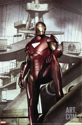 Iron Man: Director Of S.H.I.E.L.D. No.32 Cover: Iron Man Stretched Canvas Print