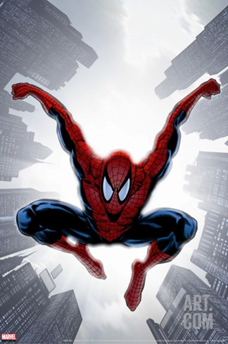 The Amazing Spider-Man No.552 Cover: Spider-Man Stretched Canvas Print