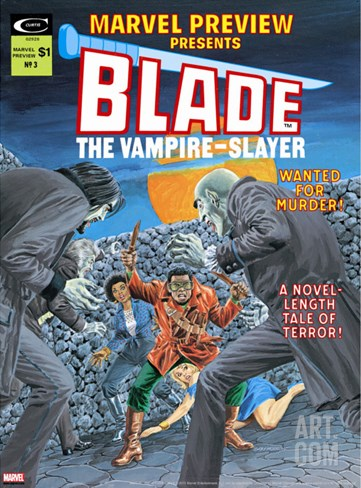 Blade The Vampire Slayer #3 Cover: Blade Stretched Canvas Print