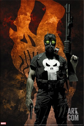 Punisher No.57 Cover: Punisher Stretched Canvas Print