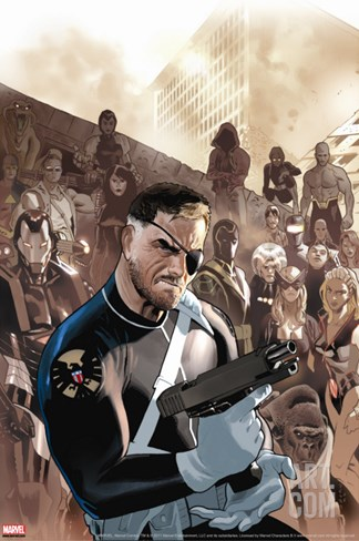 Dark Reign: New Nation No.1 Cover: Nick Fury Stretched Canvas Print