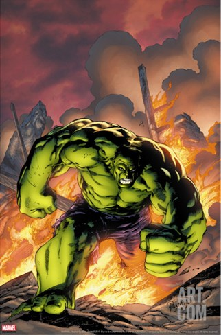 Marvel Adventures Hulk No.1 Cover: Hulk Stretched Canvas Print
